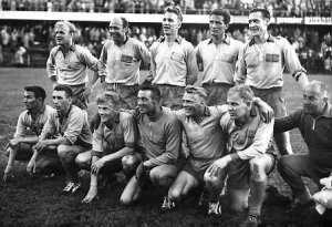 Landslagen inför finalmatchen mot Brasilien.