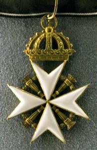 Halskors för rättsriddare/rättsledamot av Johanniterorden.